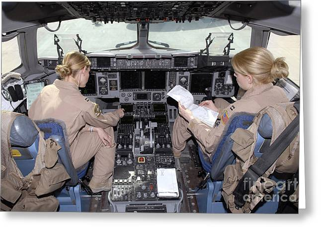 Flight Captains Review Flight Greeting Card by Stocktrek Images