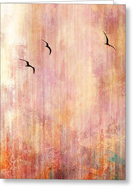 Modern Art Greeting Cards - Flight Home - Abstract Art Greeting Card by Jaison Cianelli
