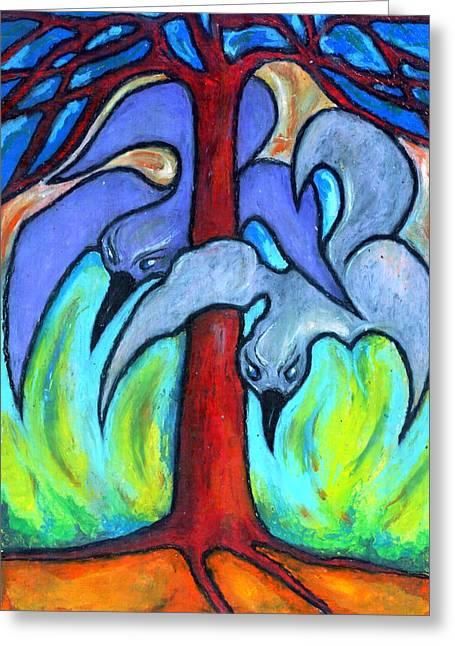 Vivid Colour Pastels Greeting Cards - Flight I Greeting Card by Wojtek Kowalski