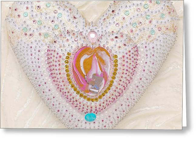 work Reliefs Greeting Cards - Flight into heart artwork Greeting Card by Heidi Sieber