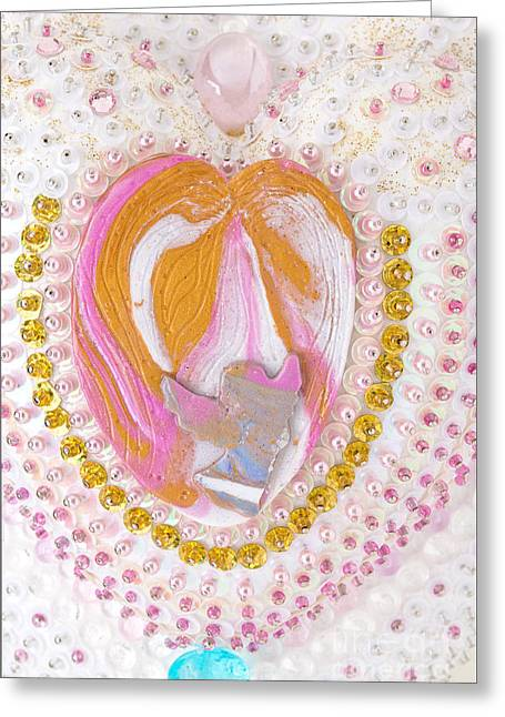 Heart Reliefs Greeting Cards - Flight into heart Greeting Card by Heidi Sieber