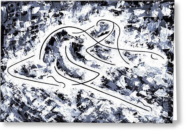 Abstract Expression Greeting Cards - Flight Greeting Card by Kamil Swiatek