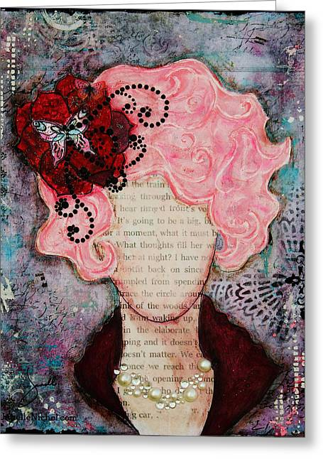 Unique Art Greeting Cards - Flight of Fancy by Janelle Nichol Greeting Card by Janelle Nichol