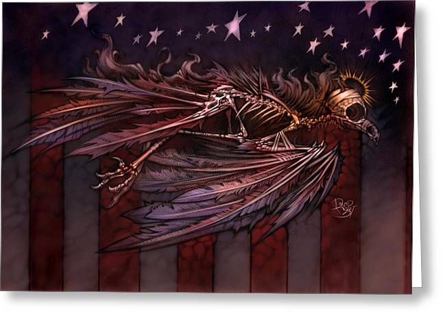Fallen Soldiers Greeting Cards - Flight of the American Spirit Greeting Card by David Bollt