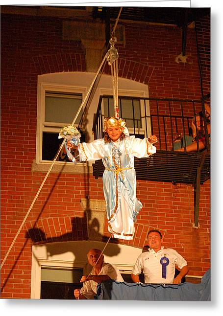 Boston Ma Greeting Cards - Flight of the Angel Greeting Card by James Kirkikis