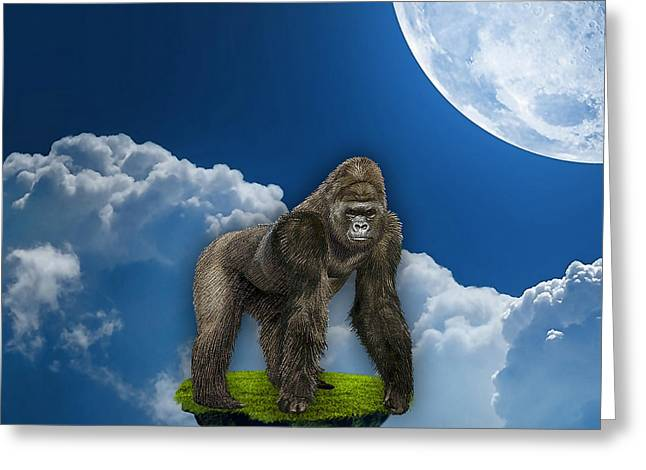 Flight Of The Ape Greeting Card by Marvin Blaine