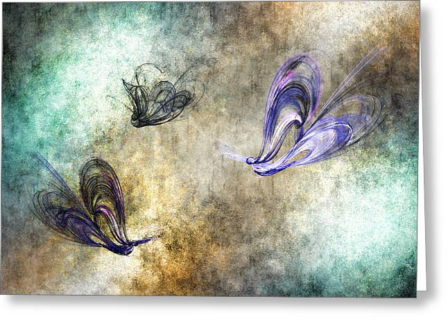 Flight Of The Butterfly Greeting Card by Sharon Lisa Clarke