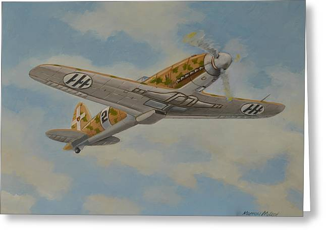 Murray Mcleod Paintings Greeting Cards - Flight of the Folgore Greeting Card by Murray McLeod