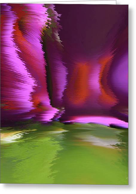 Abstract Digital Canvas Art Greeting Cards - Flight Of The Imagination Greeting Card by Gerlinde Keating - Keating Associates Inc
