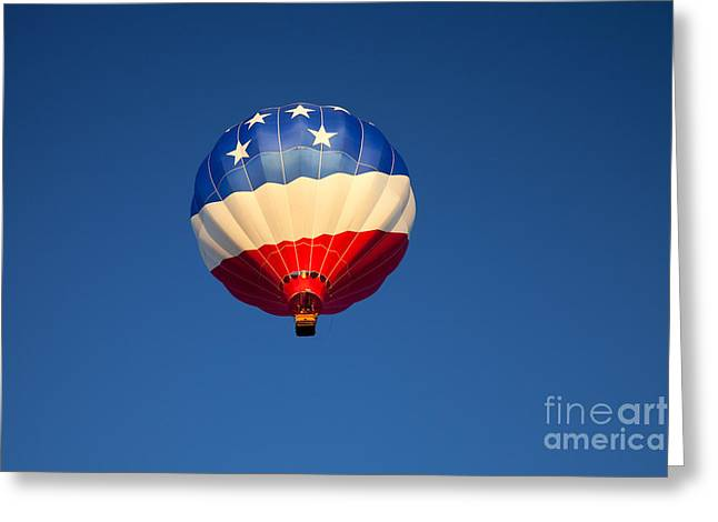 Hot Air Greeting Cards - Flight of the Patriot Greeting Card by Mike  Dawson