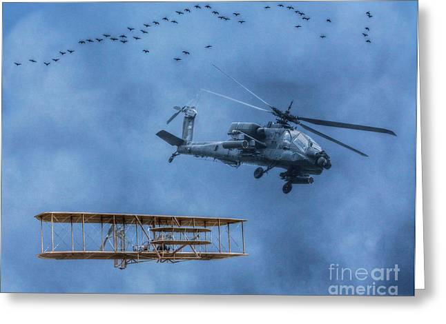 U.s Army Greeting Cards - Flight Old and New Greeting Card by Randy Steele