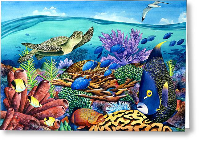 Exotic Fish Greeting Cards - Flight Patterns Greeting Card by Carolyn Steele