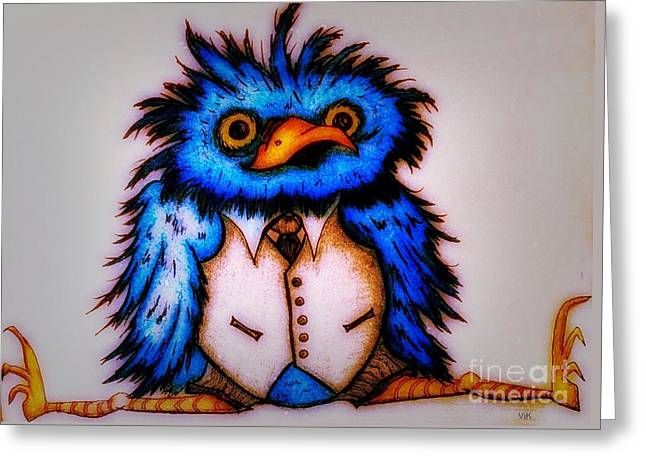 Pen And Ink Framed Prints Greeting Cards - Flight School Greeting Card by Vickie Scarlett-Fisher