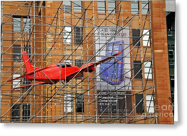 Miscellaneous Greeting Cards - Flight to Nowhere - Museum of Contemporary Art Greeting Card by Kaye Menner
