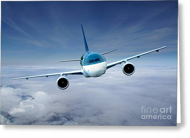 Himmel Digital Greeting Cards - Flightcheck Greeting Card by Ma Bu