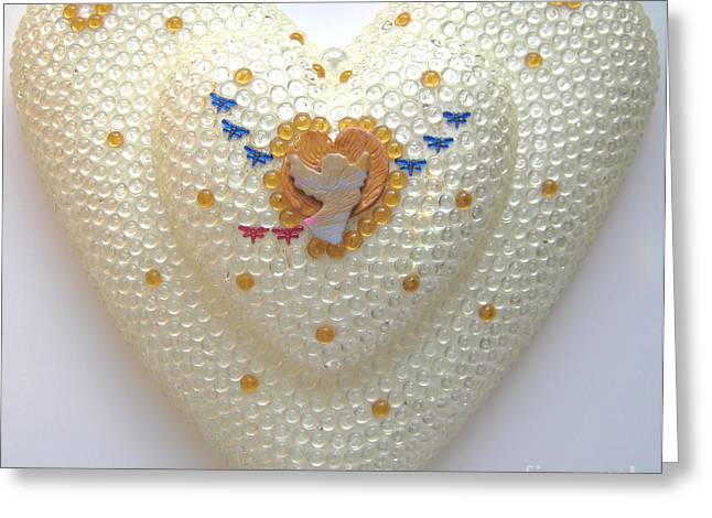Heart Reliefs Greeting Cards - Flight into heart 3 Greeting Card by Heidi Sieber