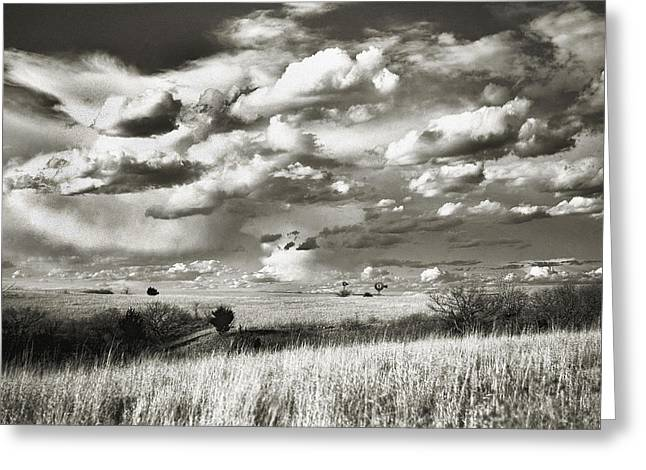 Flint Greeting Cards - Flint Hills Prairie Greeting Card by Thomas Bomstad
