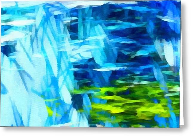 Abstract Digital Mixed Media Greeting Cards - Float 3 Horizontal  Greeting Card by Angelina Vick