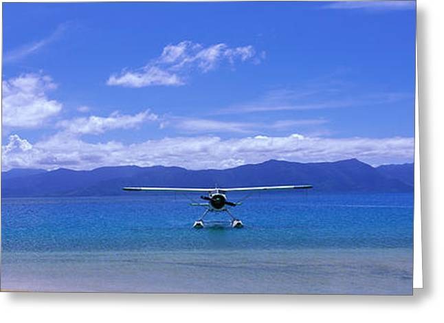 Beach Greeting Cards - Float Plane Hope Island Great Barrier Greeting Card by Panoramic Images