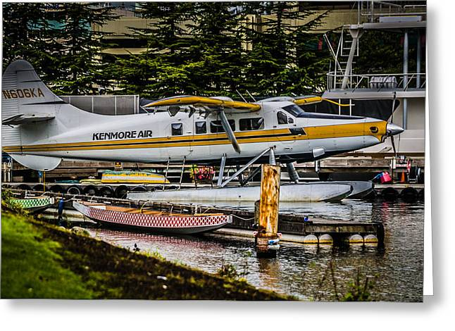 Floatplane Greeting Cards - Float Plane Greeting Card by Puget  Exposure