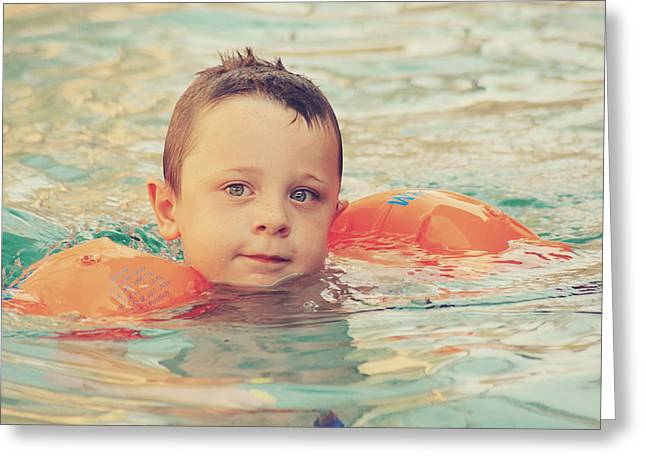 Little Boy Greeting Cards - Floaties Greeting Card by Laurie Search