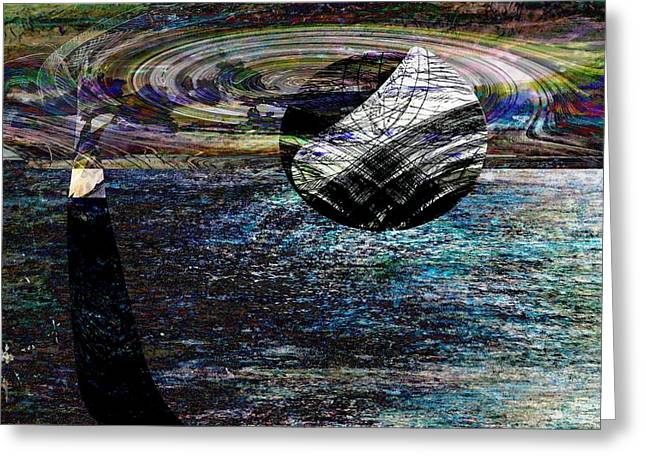 Puerto Rico Mixed Media Greeting Cards - Floating Element- Elementos Flotantes Greeting Card by Miguel Conesa Osuna