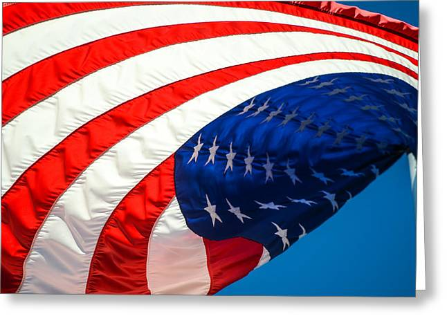Floating Flag  Greeting Card by Mary Ward