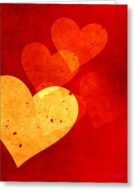 Loving Greeting Cards - Floating Hearts Greeting Card by Kurt Van Wagner