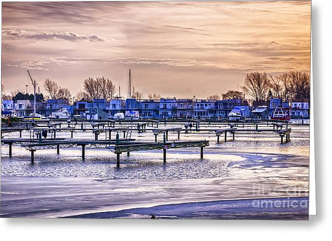 Winter Park Greeting Cards - Floating homes at Bluffers park marina Greeting Card by Elena Elisseeva