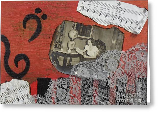 Floating Memories Greeting Card by Margaret Harmon