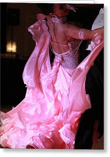 Best Sellers -  - Ball Gown Greeting Cards - Floating on a Pink Cloud Greeting Card by Kate Purdy