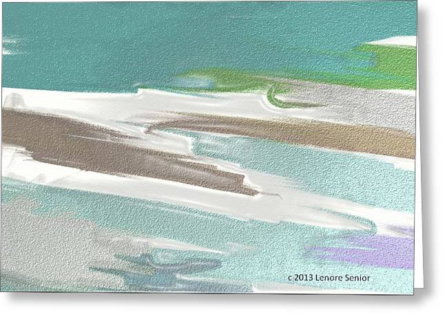 Floating On Ice Greeting Card by Lenore Senior