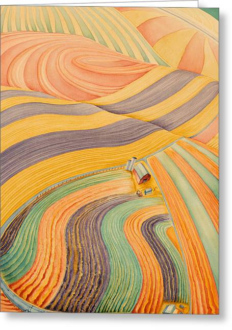 High Plains Greeting Cards - Floating Over Fields III Greeting Card by Scott Kirby