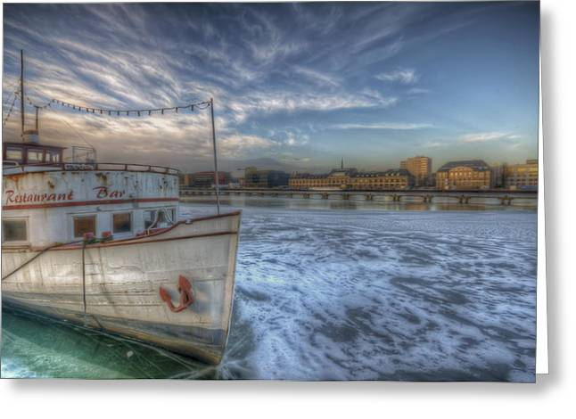 Ddr Greeting Cards - Floating restaurant Greeting Card by Nathan Wright