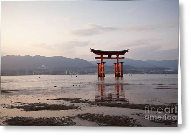Floating Torii Greeting Cards - Floating Torii Gate of Itsukushima Miyajima Greeting Card by Ei Katsumata