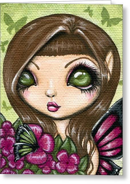Fantasy Greeting Cards - Floewer Fairy Fleur Greeting Card by Elaina  Wagner