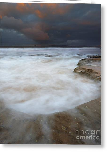 Flooded By The Tides Greeting Card by Mike Dawson