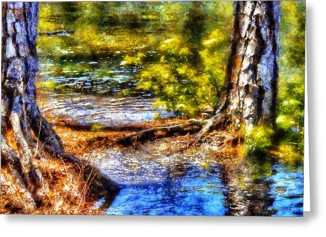 Tree Roots Digital Art Greeting Cards - Flooded Roots Greeting Card by Daniel Eskridge