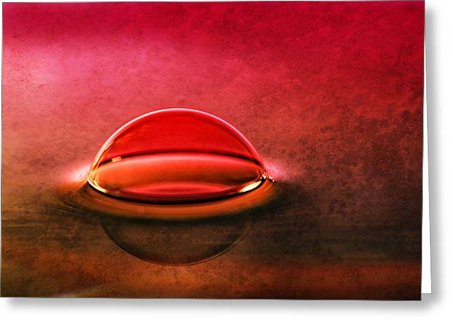 Abstract Style Greeting Cards - Flooding Greeting Card by Kent Mathiesen