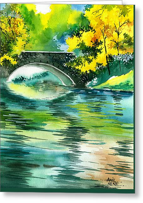 Amazing Sunset Drawings Greeting Cards - Floods R Greeting Card by Anil Nene