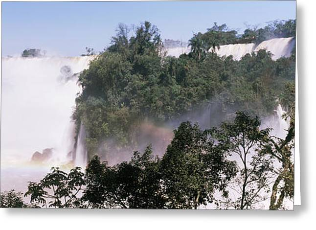 Floods Greeting Cards - Floodwaters At Iguacu Falls Greeting Card by Panoramic Images