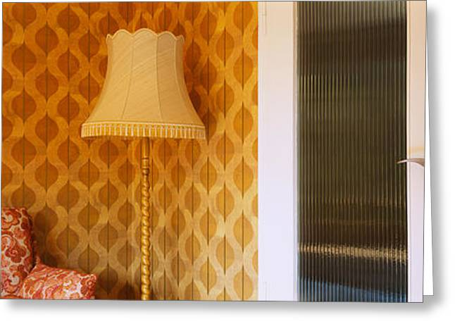 Entrance Door Greeting Cards - Floor Lamp In A Room, Germany Greeting Card by Panoramic Images