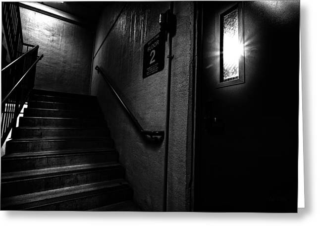 Floor Two After Dark Greeting Card by Bob Orsillo