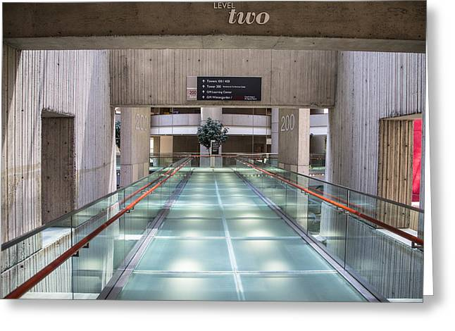 Renaissance Center Greeting Cards - Floor Two Renaisannce Center in Detroit  Greeting Card by John McGraw