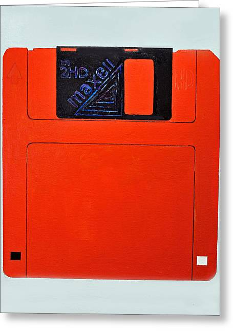 Floppy Disk Greeting Card by James A Hamilton