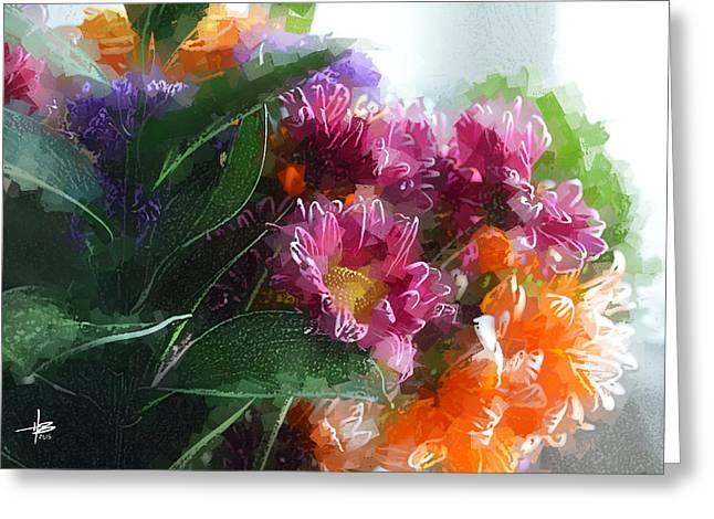Herb Briley Greeting Cards - Flora 58 Greeting Card by Herb Briley