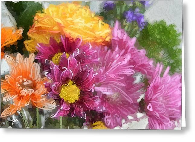 Herb Briley Greeting Cards - Flora 75 Greeting Card by Herb Briley