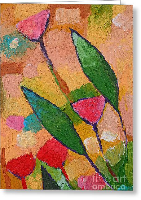 Flora Greeting Cards - Flora Abstract Greeting Card by Lutz Baar