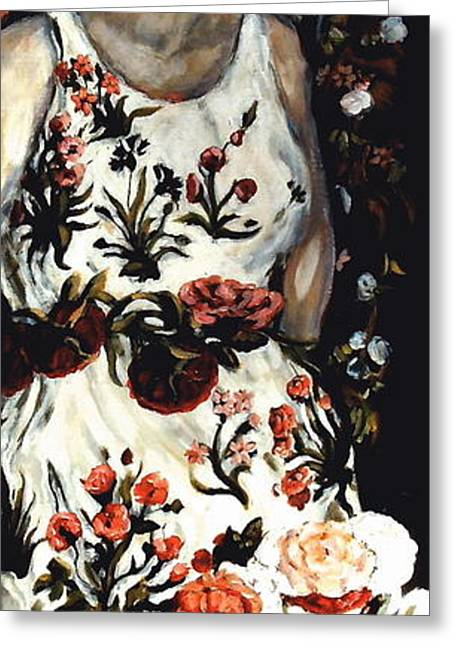Carrie Joy Byrnes Greeting Cards - Flora Greeting Card by Carrie Joy Byrnes