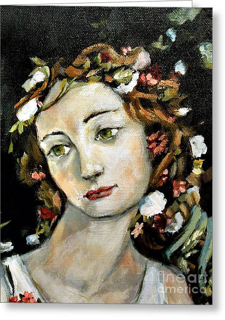 Carrie Joy Byrnes Greeting Cards - Flora Detail Greeting Card by Carrie Joy Byrnes